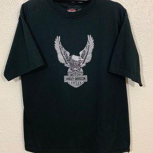 Harley Davidson Motorcycles Eagle Logo Faded Shirt